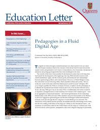 <b>Spring</b>/<b>Summer</b> Issue of the Queen's Education <b>Letter</b> | Faculty of ...