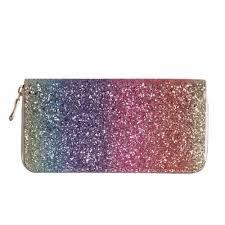 Luxury <b>Women Long Wallet</b> Sparkly Sequined Clutch Glitter Pu ...