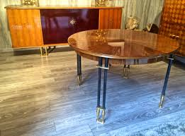 1950 Dining Room Furniture Jules Leleu Documented 1950s Design Round Extendable Dining