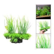 1pc 20cm Plastic Artificial <b>Fake Grass Plant</b> Aquarium Fish Tank ...