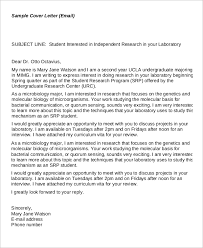 email cover letter for research format of email cover letter
