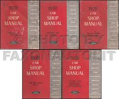 1970 fairlane torino ranchero wiring diagram manual reprint related items
