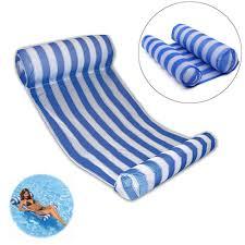<b>Stripe Swimming Pool Floats</b> Air Mattress Inflatable Sleeping Bed ...