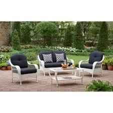 brown wicker outdoor furniture dresses: better homes and gardens azalea ridge  piece patio conversation set white seats  walmartcom