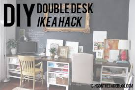 awesome our recent office makeover including the diy 12 ft long double desk home design awesome home office ideas ikea 3