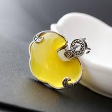 <b>Женская подвеска с</b> желтым халцедоном MetJakt, однотонная ...