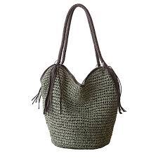 <b>Women</b> Straw Shoulder Bag Summer <b>Beach</b> Bag <b>Tassels</b> Tote Bag ...