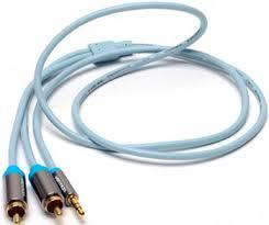 <b>Кабель Vention аудио</b> Jack 3,5 mm M/2RCA M - 3 м Серый P 550 ...