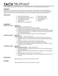 Unforgettable Esthetician Resume Examples to Stand Out     Esthetician Resume Sample