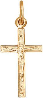 <b>Золотой православный крестик</b> с распятием <b>SOKOLOV</b> 120089_s ...