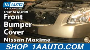 How to Remove Front <b>Bumper</b> 04-08 Nissan Maxima - YouTube