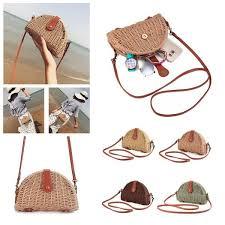 <b>Women</b> Crossbody Round <b>Straw Bag Handbag Shoulder Beach</b> ...