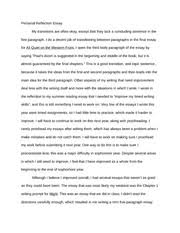 all quiet on the western front reflection essay   all quiet on the   pages personal reflection essay