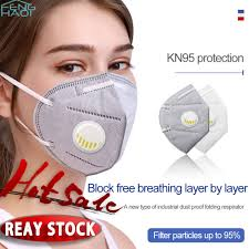 <b>Reusable KN95 N95</b> Mask Valved Face Mask KN95 Protection Face ...