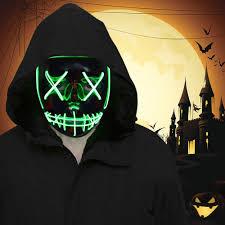 FLY2SKY <b>Halloween</b> Mask Light Up Toys <b>2PCS</b> Green LED Light ...