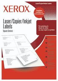Specs <b>Xerox</b> Labels Multi-Use 24UP 70x37 mm <b>self</b>-<b>adhesive</b> label ...