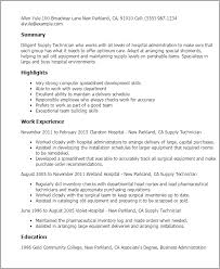 professional supply technician templates to showcase your talent    resume templates  supply technician