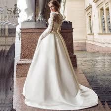 <b>SoDigne</b> July <b>Wedding dress 2020</b> Long Sleeves A Line Satin ...