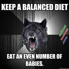 Keep a balanced diet | Animal Memes via Relatably.com