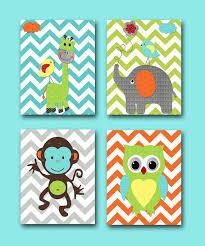 baby nursery monkey owl giraffe elephant boy art print children wall light blue animals artwork cute baby nursery cool bee animal
