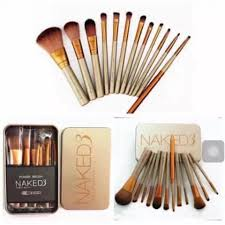 Naked3 Professional <b>Makeup Brush Set</b> Makeup Tool <b>12pcs set</b> ...