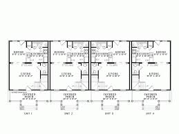 Eplans Traditional House Plan   FourPlex Multi Family      Level