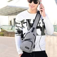 Qiaoduo <b>Men's Canvas Shoulder</b> Bags 5 Colors New Fashion Chest ...