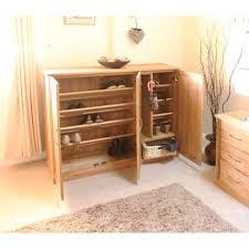 mobel oak extra large shoe cupboard baumhaus mobel solid oak hidden