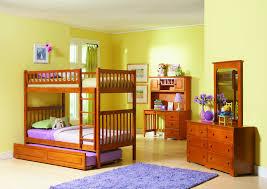 bedroom kid: sweet furniture interior bedroom kids room design with light oak white headboard bed along purple bedding sheets also pink marvelous childrens wooden bunk