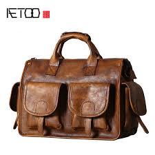 <b>AETOO Original leather</b> men's <b>bag handbag</b> shoulder Messenger ...