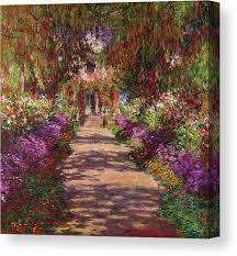 <b>Monet Garden Canvas</b> Prints | Fine Art America