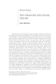 the stranger and social theory pdf available