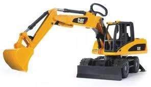 Купить <b>игрушку BRUDER Экскаватор</b> колёсный <b>CAT</b> с отвалом ...
