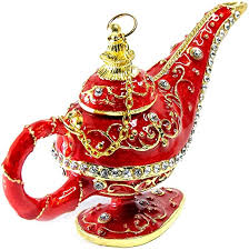 Aladdin <b>Genie Magic Lamp Metal</b> Red and Gold, Is one of the best ...