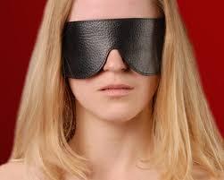 Чёрная широкая <b>кожаная маска</b> на глаза <b>Sitabella</b> - купить по ...