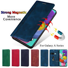 Luxury <b>Magnetic Leather Case For</b> Samsung Galaxy A51 A71 A01 ...
