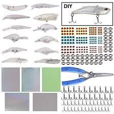 Amazon.com : Unpainted <b>Crankbaits</b> Blank <b>Fishing</b> Minnow <b>Lure</b> Kit ...