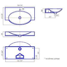 <b>Раковина Акватон</b> SIGNO 76 F01 (Infinity 76) (769х458мм) белая ...