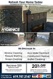 commercial services window hygienics window cleaners in san coupon flyer