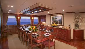 Formal Dining Room Luxury Yacht Charter Golf Charter Yacht Stargazer Formal Dining Room
