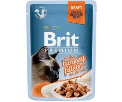 <b>Brit Premium Turkey</b> Fillets пауч для кошек с индейкой в соусе ...