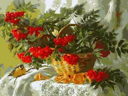 <b>DIY</b> Oil <b>Painting By</b> Numbers Still Life of Flowers Frameless <b>Painting</b> ...