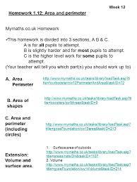 Year   sets   to   Maths Homework     autumn term WeekHomework