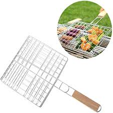 Stainless Steel Folding Barbecue Grill Basket ... - Amazon.com
