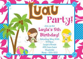 luau birthday party invitation templates luau party invitations templates