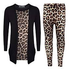 <b>Girls</b> Top <b>Kids</b> Leopard Print Stylish Cardigan & <b>Fashion</b> Legging ...