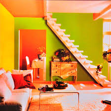 Orange Bedroom Wallpaper Wallpaper Brief Modern Orange Green Powder Solid Color Plain