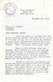 out of the box  letter of henry ford inviting governor stuart to join his peace delegation on its trip to
