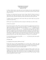 best photos of transcribing interviews format interview interview transcript example