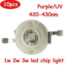 <b>10pcs</b>/<b>lot</b> 1W 2W <b>3W 45mil UV Ultraviolet</b> 420nm 430nm 600 700mA ...